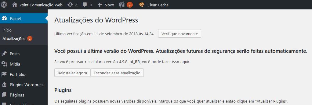 Mantenha seu site WordPress sempre atualizado